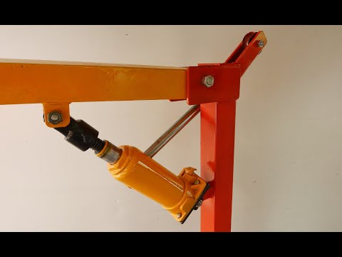 Homemade A Small Mobile Crane For Workshop