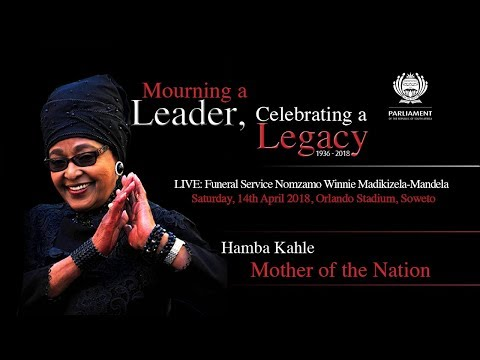 LIVE: Funeral Service Nomzamo Winnie Madikizela-Mandela