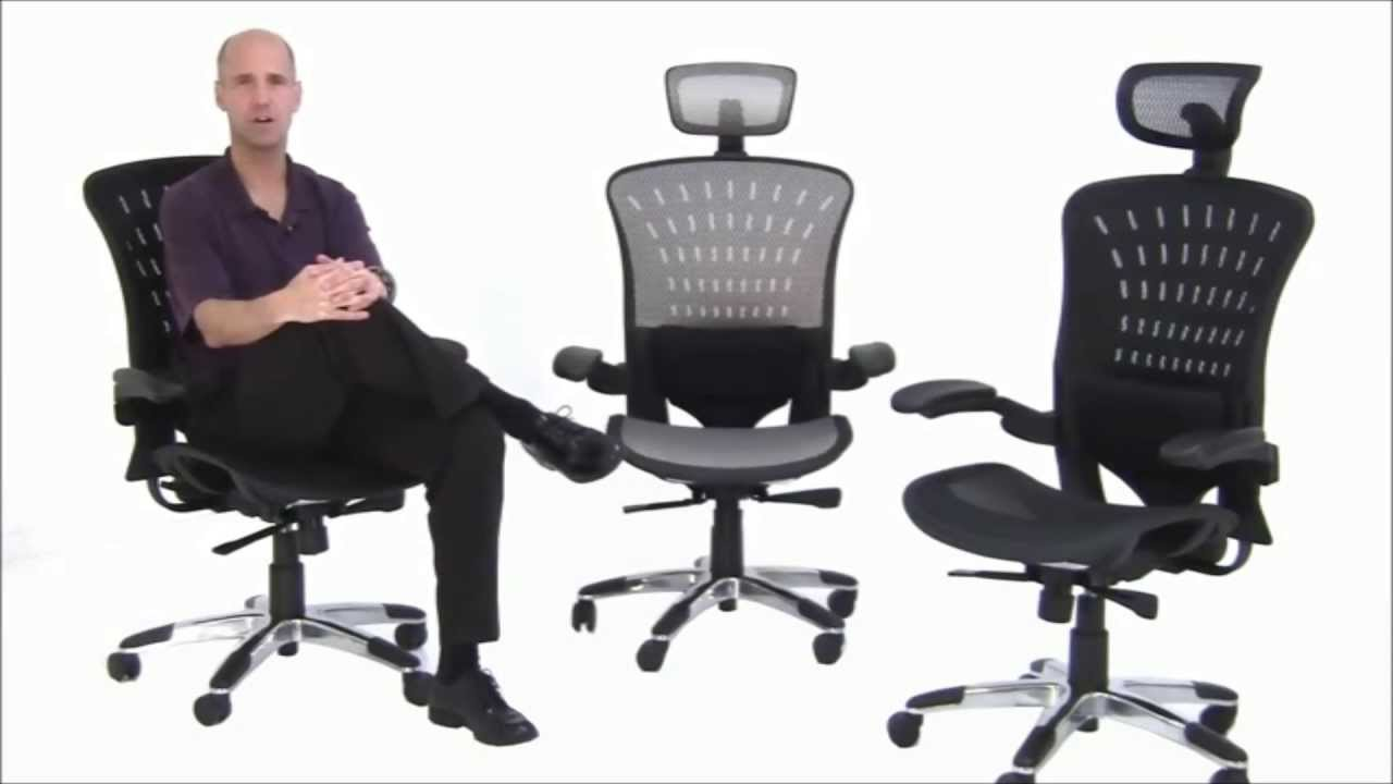ergoflex ergonomic mesh office chair - free shipping! - youtube