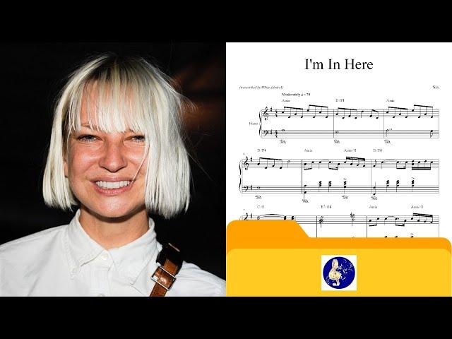 I\'m In Here - Sia - Piano Chords - Chordify