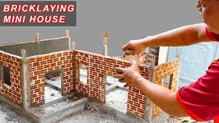 Bricklaying model -- Building Dream Mini House  | 1st floor -- part 2