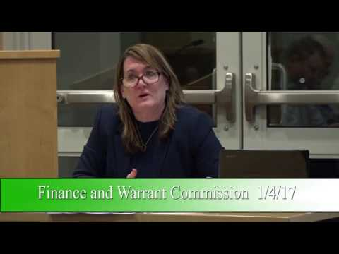 Finance and Warrant Commission 1/4/17