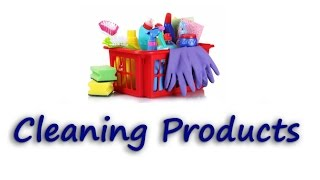 Learn English for Housekeeping Job | CLEANING PRODUCTS.