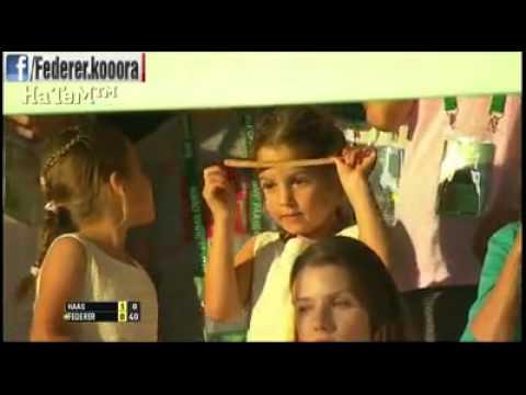Myla and Charlene Federer at Indian Wells