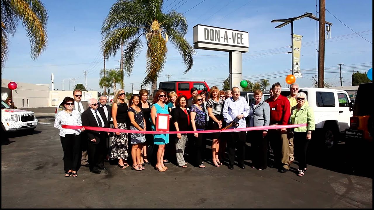 Delightful Don A Vee Jeep 50th Anniversary Ribbon Cutting