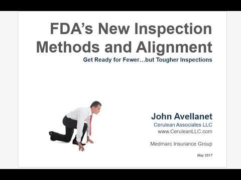 FDA New Inspection Methods and Alignment