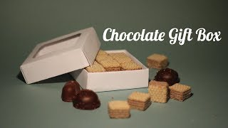 Chocolate gift Boxes with Lid - How to DIY
