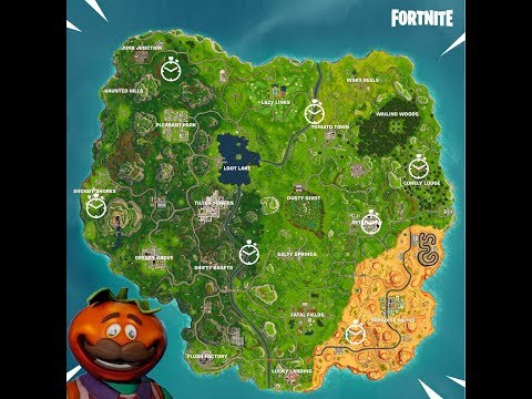 Fortnite: Time Trial Locations