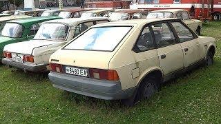 Старые советские автомобили | ВАЗ | Москвич | Волга | Икарус | Ретро техника под открытым небом