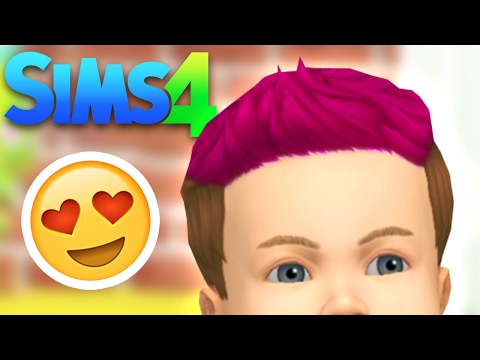 Dying baby Alex's hair! - SIMS 4 BABIES
