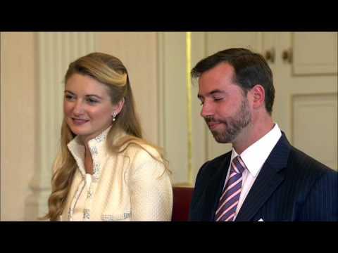 Le mariage civil de Guillaume et Stéphanie - couple grand-ducal héritier du Luxembourg