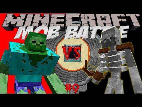 MUTANT ZOMBIE VS MUTANT SKELETON! Битва мобов в Minecraft! #9 Mob Battle