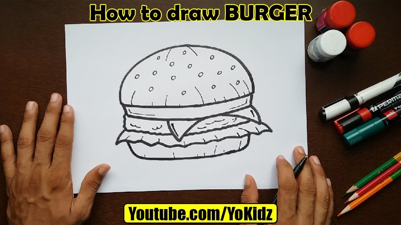 How To Draw Burger
