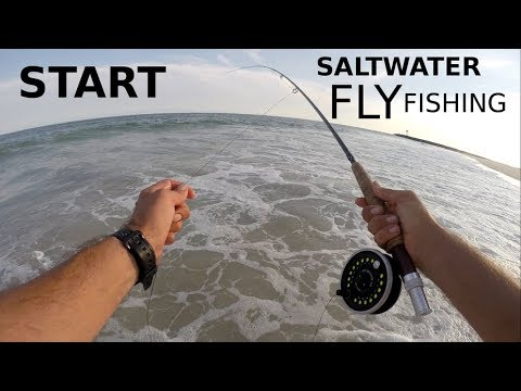How To START Saltwater Fly Fishing - A INTRODUCTION - Tackle For Surf Pier & Rock