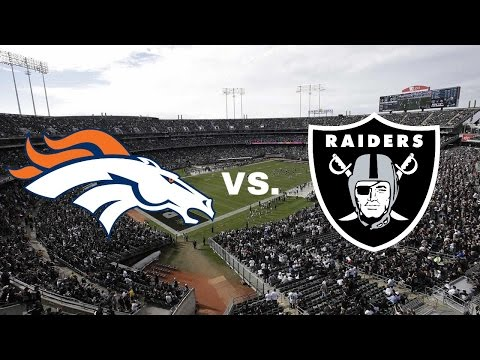 Broncos at Raiders Teaser: Prime-Time Showdown