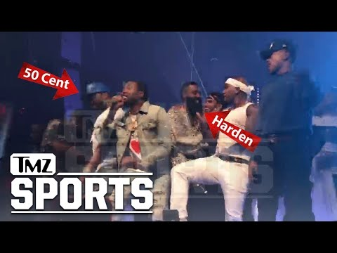 Meek Mill, Chance and 50 Cent Share Stage at James Harden's B-Day | TMZ Sports