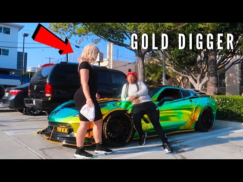 Epic Gold Digger *PRANK* with $100,000 Corvette !! (She likes me)
