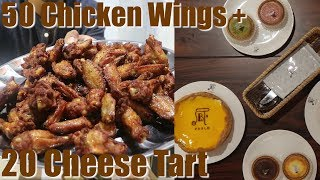 MUKBANG 50 Chicken Wings + 20 Cheese tart dari Pablo