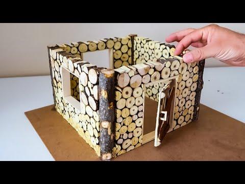 Ağaç dallarından maket ev yapımı - Ağaç dalları ile tasarım - model homemade - نموذج محلي الصنع