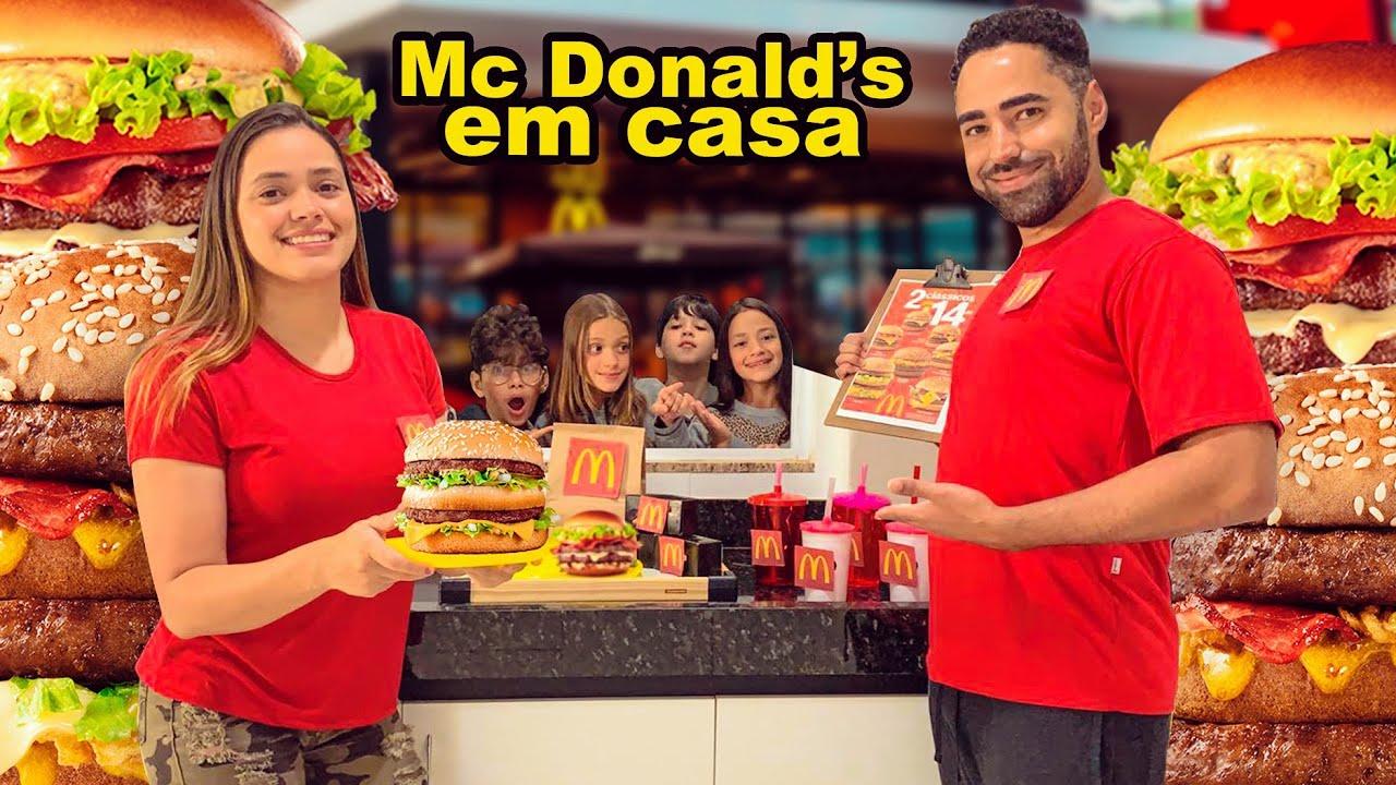 TRANSFORMEI NOSSA CASA EM UM MC DONALD'S