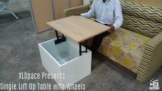 Baixar Single Lift Top Cetre Table with hidden wheels and Bigger Storage