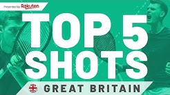 Great Britain TOP 5 Shots Davis Cup Finals 2019 presented by Rakuten