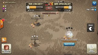 MEGA WAR TH9 CRICKET VS TH9 WM SPECIALIST ,WAR 50 VS 50 Clash of clans live streaming
