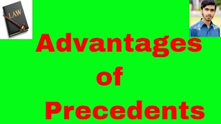 advantages of precedent  in hindi and urdu OR sources of law part 11