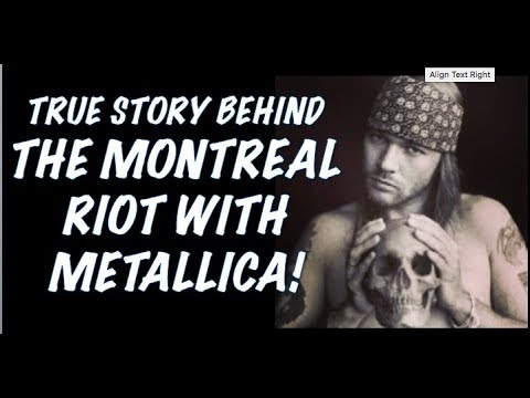 Guns N' Roses  The True Story Behind the Montreal Riot Metallica Guns N' Roses Tour