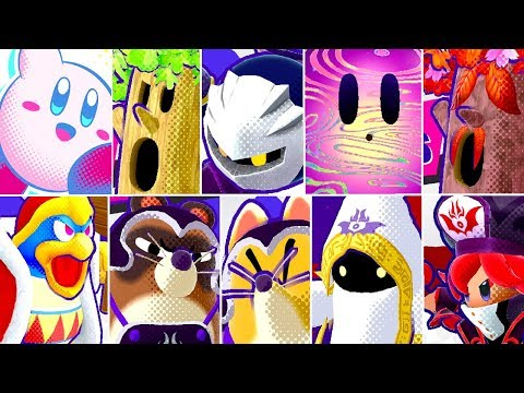 Kirby Star Allies - All Bosses (No Damage - No Copy Abilities or Allies)