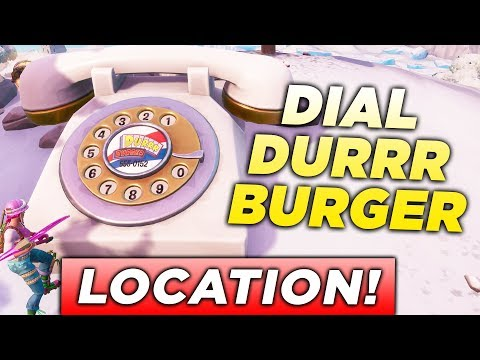 """""""Dial the Durrr Burger Number on the Big Telephone west of Fatal Fields"""" LOCATION FORTNITE CHALLENGE"""