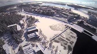 Näkymiä Tornihotellin ikkunasta yli Savonlinnan