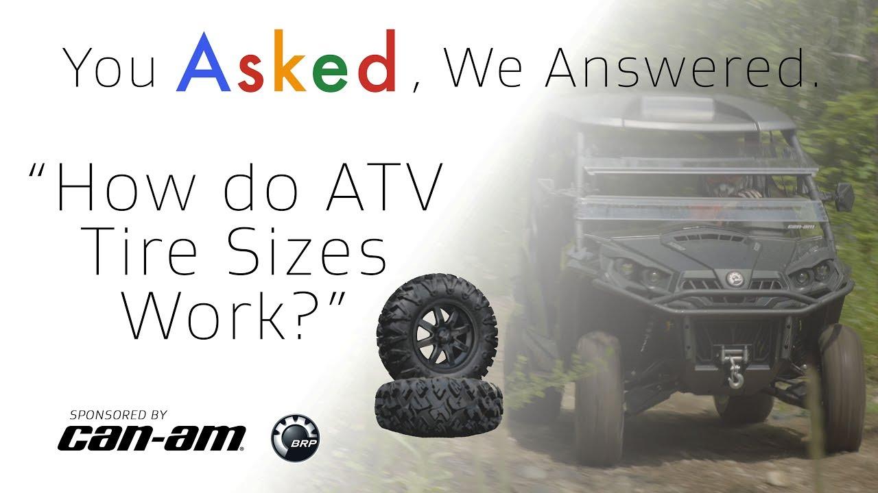 How Do Atv Tire Sizes Work Youtube