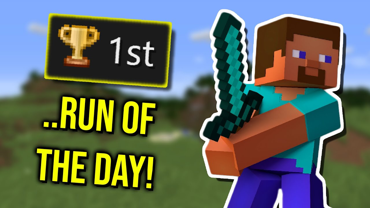Minecraft WR On His FIRST Run Of The Day | Speedrun Community Highlights