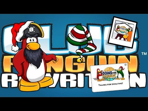 Rockhopper is here!! + Coins for Change Mini Event!! (Club Penguin Rewritten)