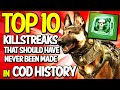 "Top 10 ""Killstreaks That Should Have Never Been Made"" in COD HISTORY (Top 10 - Top Ten) Call of Duty"