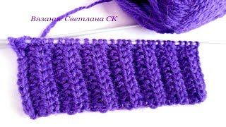 Узор спицами двухсторонний для шарфа(Видео, как связать узор резинка спицами для шарфа., 2016-04-09T05:00:01.000Z)