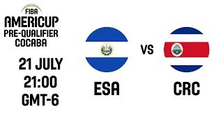 El Salvador v Costa Rica - FIBA AmeriCup 2021 Pre-Qualifier - Central America