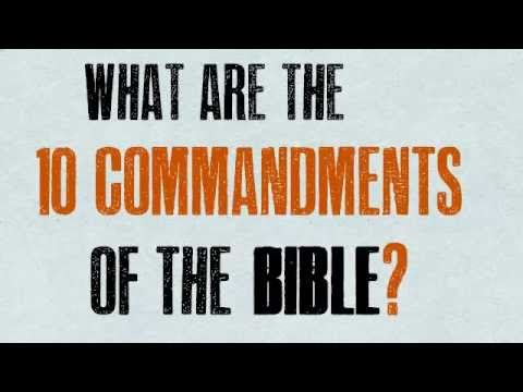 What are the 10 Commandments of the Bible?
