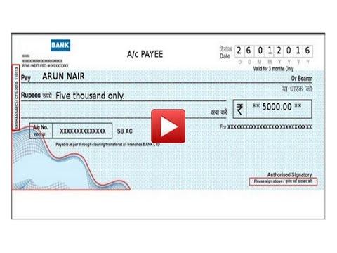 Online Cheque Printing using E-Formz - YouTube