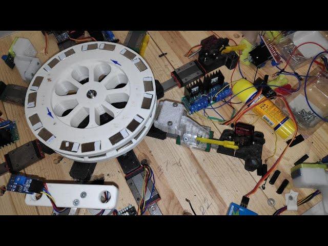 Магнитный Двигатель на основе #второго #магнитного #поля - тест ротора с однонаправленным вращением