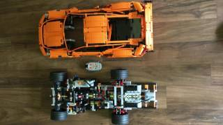 Lego Technic 42056 Porsche 911 (Remote Power Control with H6 engine and PDK gear)