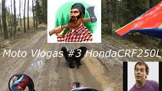 Moto Vlogas #3 HondaCRF250L   Jau Drąsiau   Norisi 450cc