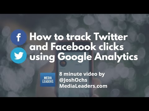 How to track Twitter and Facebook clicks using Google Analytics