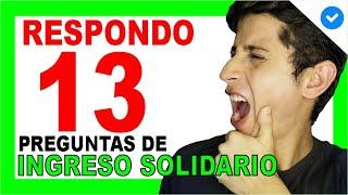? INGRESO SOLIDARIO: ? 13 Preguntas y Respuestas COMUNES | DERECHO COLOMBIANO