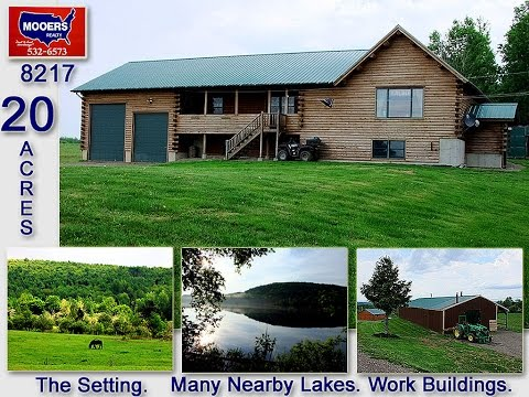 maine real estate for sale log home 20 acres of land