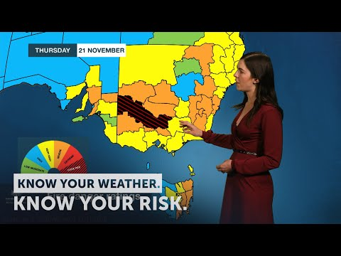 Severe Weather Update: Dangerous Fire Conditions And Record Breaking Heat 21 November 2019