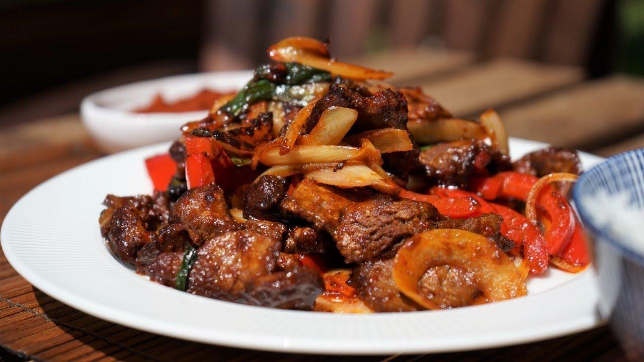 bœuf saute au sate recette de cooking with morgane