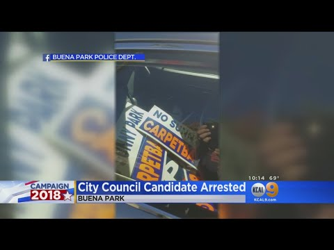 Buena Park City Council Candidate Cited For Stealing Campaign Signs