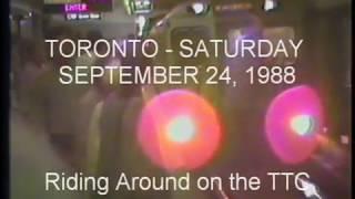 TTC - TORONTO - SEPT. 1988 - The H1 subway cars